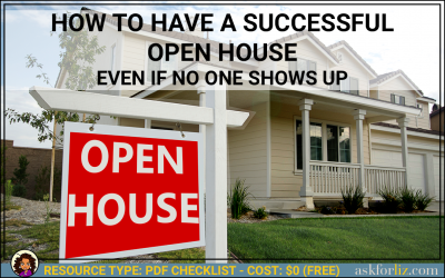 How To Have a Successful Open House Even When No One Shows Up