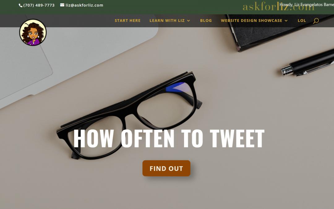How Often Should I Tweet?