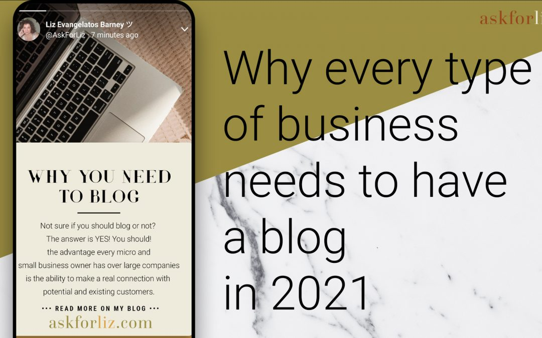 Why You Need To Blog