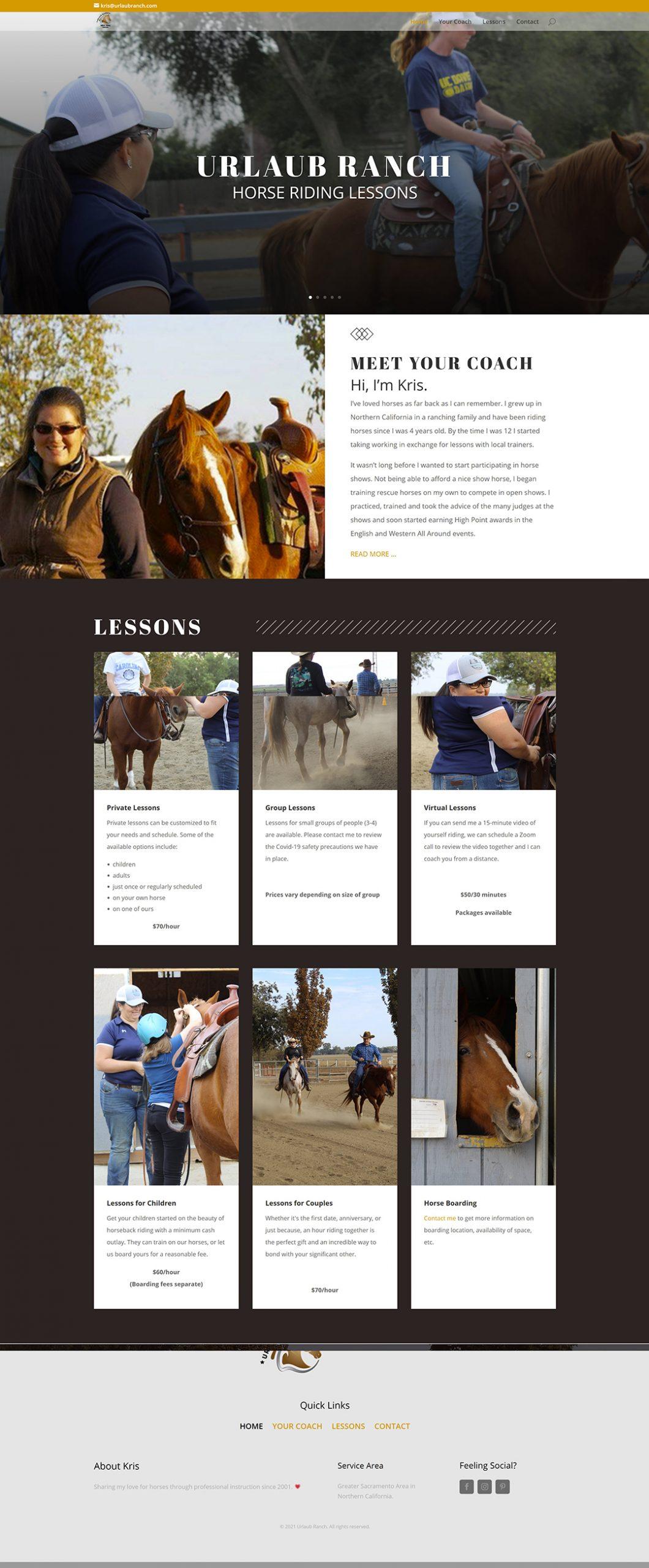 Urlaub-Ranch-website
